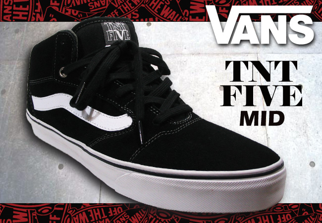 1b12c0a08e Pro Shop RBS  VANS TNT5 MID BLACK WHITE PEWTER  fs04gm
