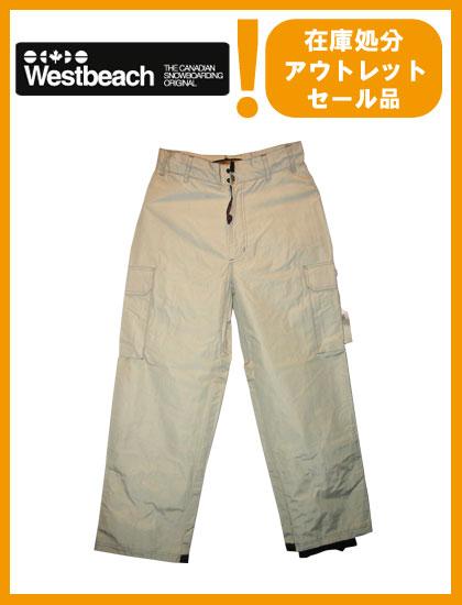 WESTBEACH PANTS カラー WHITE 【ウエストビーチ パンツ】【スノーボード ウェア】