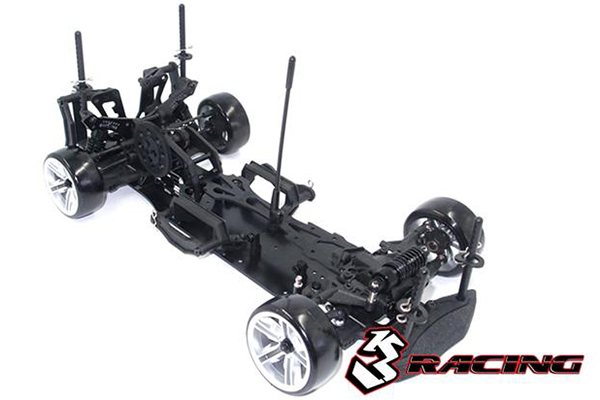 !【3RACING/3レーシング】 KIT-D4ARWDS/BK Sakura D4 RWD スポーツエディション(ブラック) シャーシキット(半完成)【お取り寄せ商品】