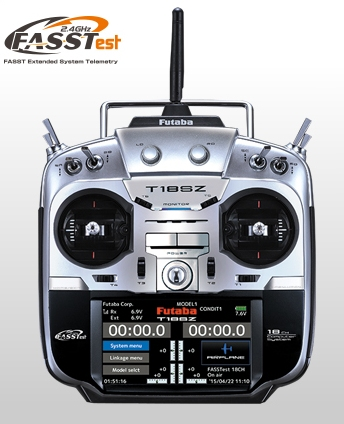 2.4GHz・16チャンネルプロポセット 8454 【FUTABA/フタバ/双葉電子工業】 18SZ ヘリコプター用 送信機・R7008SB受信機セット Mode1
