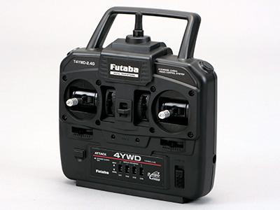 8496-3 【FUTABA/フタバ/双葉電子工業】 4YWD 送信機・受信機・S3003サーボ×2・MC331CRブラシモーター用ESC付セット