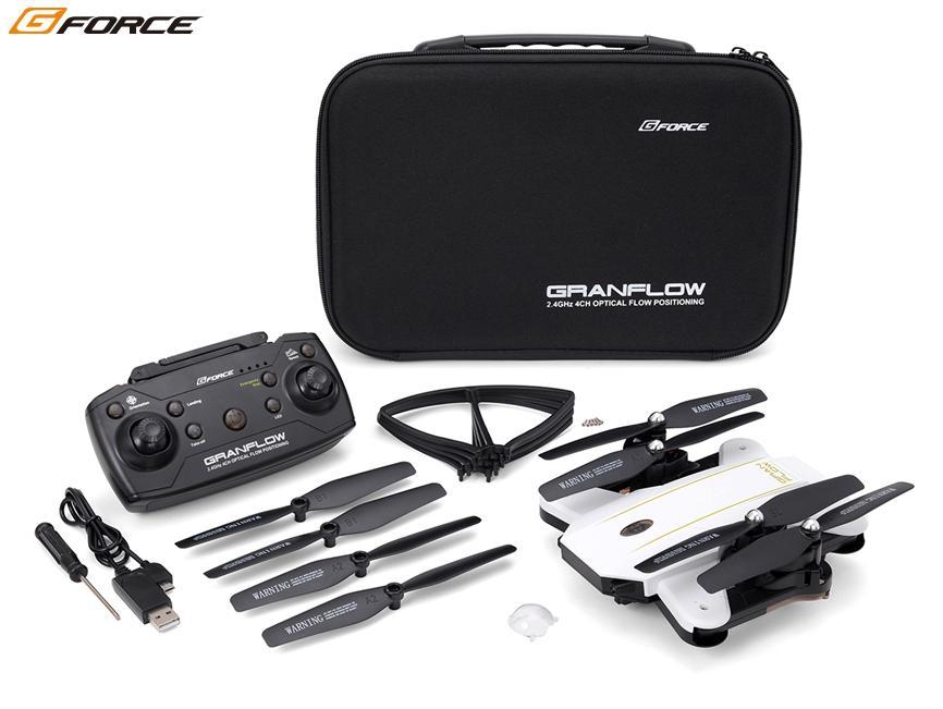 !【G-FORCE /ジーフォース】 GB061 GRANFLOW (グランフロー) White/Black MODE1仕様 「デュアルカメラ搭載 FPV ドローン」