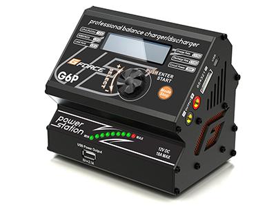 G0025  【G-FORCE /ジーフォース】 G6P AC Charger & Power Supply (AC100V/DC12V入力型充電器)