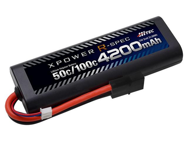 XPR4200-RT ハイテックマルチプレックスジャパン XPOWER R-SPEC 在庫一掃売り切りセール Li-Po 4200mAh 100C Seasonal Wrap入荷 50C タミヤタイプコネクター 7.4V