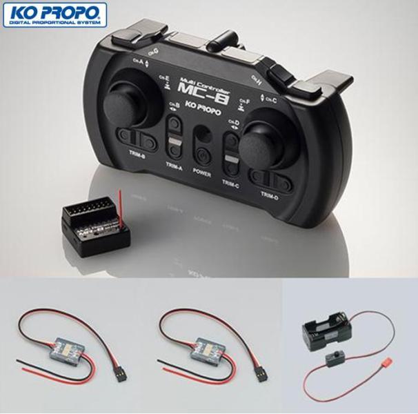 10713 【KO PROPO/近藤科学】 MC-8 2.4GHz MX-F MAKEセットA(MD-1NB 370以下の小型模型用DCモーター用スピードコントローラー×2個付属)