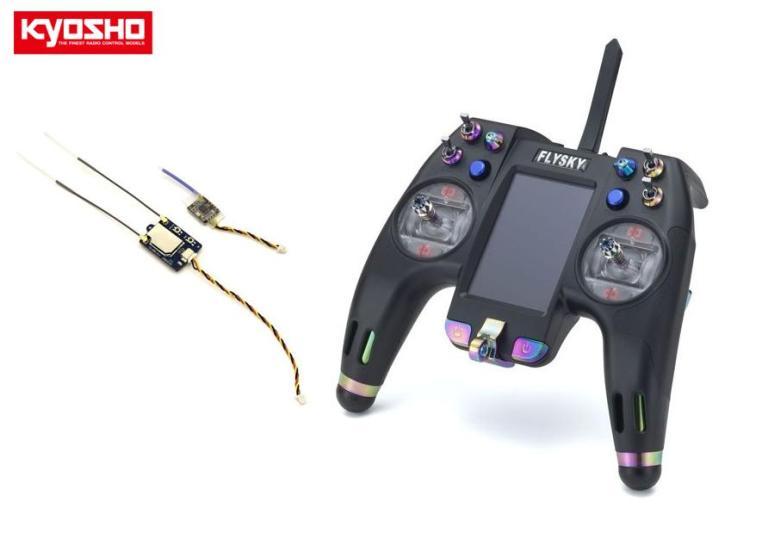 82154 【KYOSHO/京商】 Flysky 2.4GHz デジタルプロポーショナルラジオコントロールシステム Nirvana NV14 テレメトリー 14ch Tx/Rxセット(モード2)(ドローン/RCプレーン用)