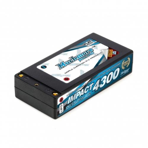 MLI-STLCG4300MP 【Muchmore Racing/マッチモア レーシング】 インパクト LCG Max-Punch FD2 Li-Poバッテリー4300mAh/7.4V 120C ショッティハードケース・ピン仕様