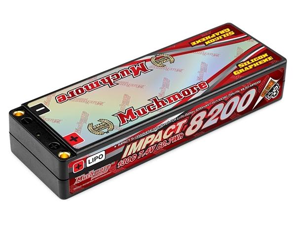 """MLSG-MP8200 【Muchmore Racing/マッチモア レーシング】 インパクト""""Silicon Graphene""""Max-Punch FD4 Li-Poバッテリー8200mAh/7.4V 130C ハードケ-ス・ピン仕様"""
