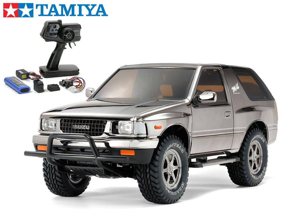 !【TAMIYA/タミヤ】 47383 いすゞ ミュー TYPE X ブラックメタリックスペシャル(CC-01シャーシ)組立キット+45053 ファインスペック電動RCドライブセット (未組立) ≪ラジコン≫