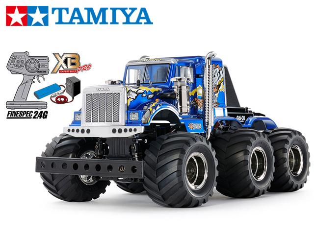 !【TAMIYA/タミヤ】 57905 1/18 電動RC 完成セット XB コングヘッド6x6 (G6-01シャーシ)チャンプオリジナル XBビギナーセット(タミヤ純正予備バッテリー1本・急速充電器・単三乾電池4本付) ≪ラジコン≫