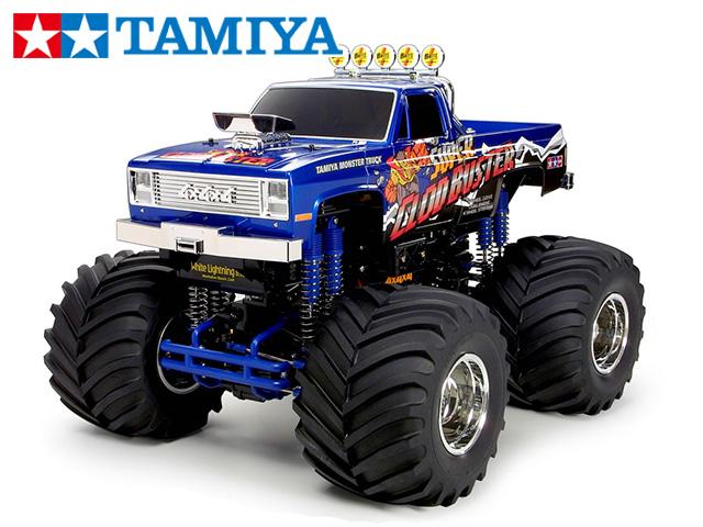 !【タミヤ】 58518 4×4×4 ピックアップトラック スーパークラッドバスター 組立キット+チャンプオリジナル:フルボールベアリング