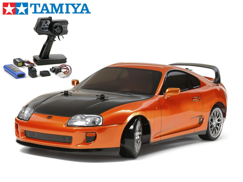 !【TAMIYA/タミヤ】 58613 1/10 電動RC トヨタ スープラ(TT-02Dシャーシ)ドリフトスペック 組立キット+45053 ファインスペック電動RCドライブセット(未組立) ≪ラジコン≫