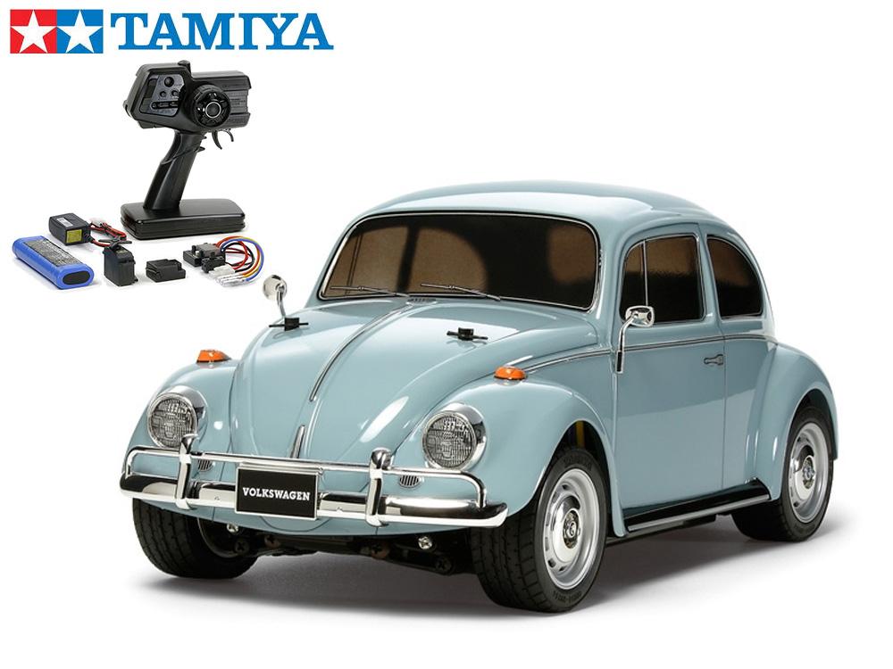 !【TAMIYA/タミヤ】 58572 1/10 電動RC フォルクスワーゲン ビートル (M-06シャーシ)組立キット+45053 ファインスペック電動RCドライブセット(未組立) ≪ラジコン≫
