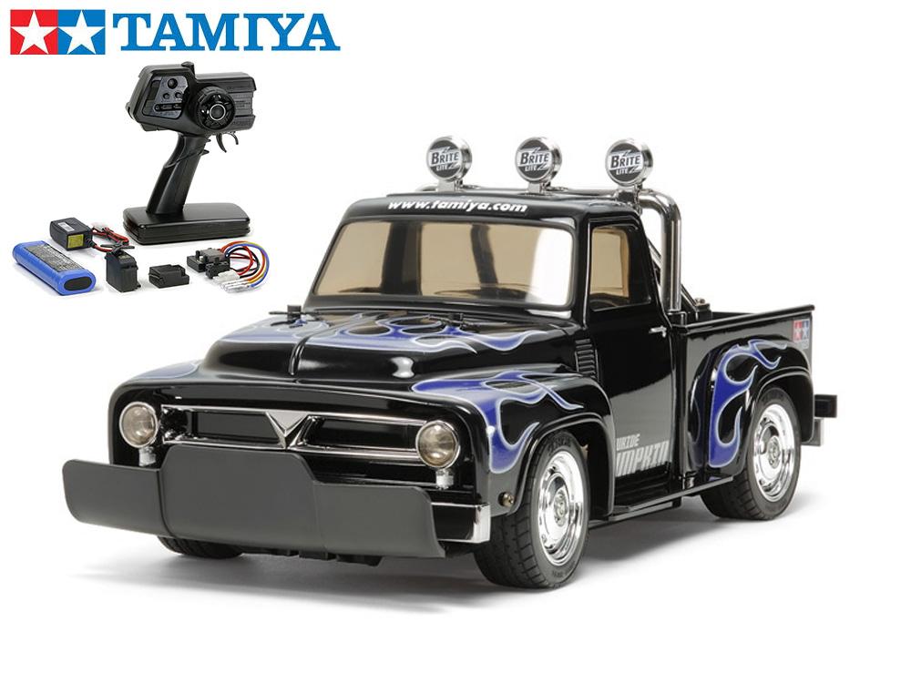 !【TAMIYA/タミヤ】 58594 ローライド パンプキン(M-06シャーシ)組立キット+45053 ファインスペック電動RCドライブセット+チャンプオリジナル:フルボールベアリング (未組立) ≪ラジコン≫
