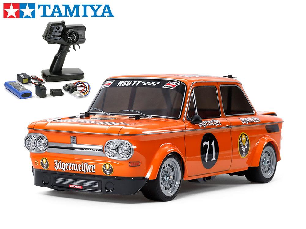 !【TAMIYA/タミヤ】 58649 1/10 電動RC NSU TT イェーガーマイスター (M-05シャーシ)組立キット+45053 ファインスペック電動RCドライブセット(未組立) ≪ラジコン≫