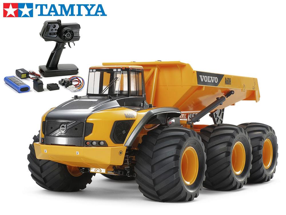 !【TAMIYA/タミヤ】 58676 1/24RC ボルボ A60H ダンプトラック 6×6 (G6-01シャーシ) 組立キット+45053 ファインスペック電動RCドライブセット+チャンプオリジナル:フルボールベアリング (未組立) ≪ラジコン≫