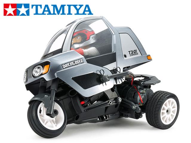 !【TAMIYA/タミヤ】 57405 トリプルホイールシリーズ 1/8 ダンシングライダー  (T3-01シャーシ) 組立キット+45067 ファインスペック2.4Gプロポセット(TRE-01付)(未組立) ≪ラジコン≫