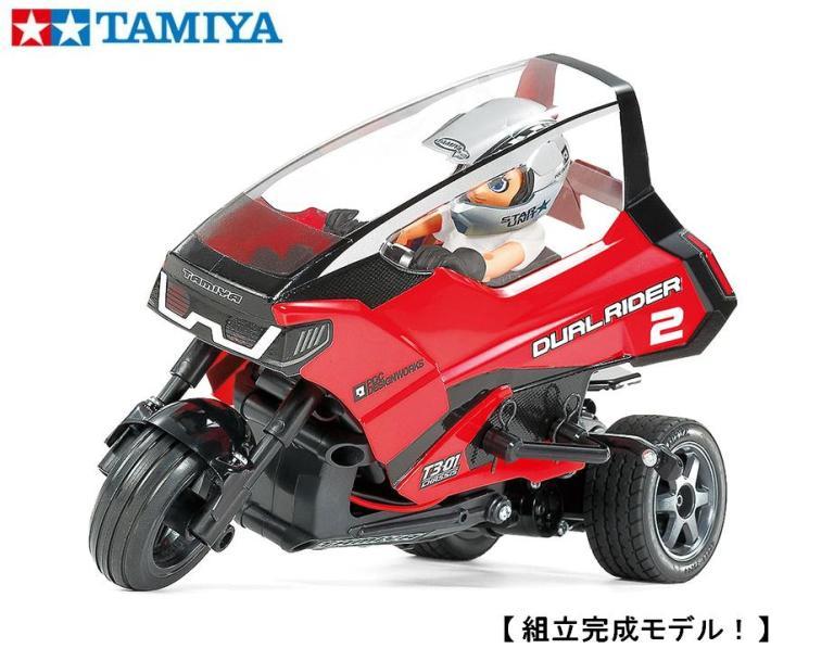 !【TAMIYA/タミヤ】 57408 1/8 電動RC トリプルホイールシリーズ 1/8 デュアルライダー  (T3-01シャーシ) 完成モデル ≪ラジコン≫
