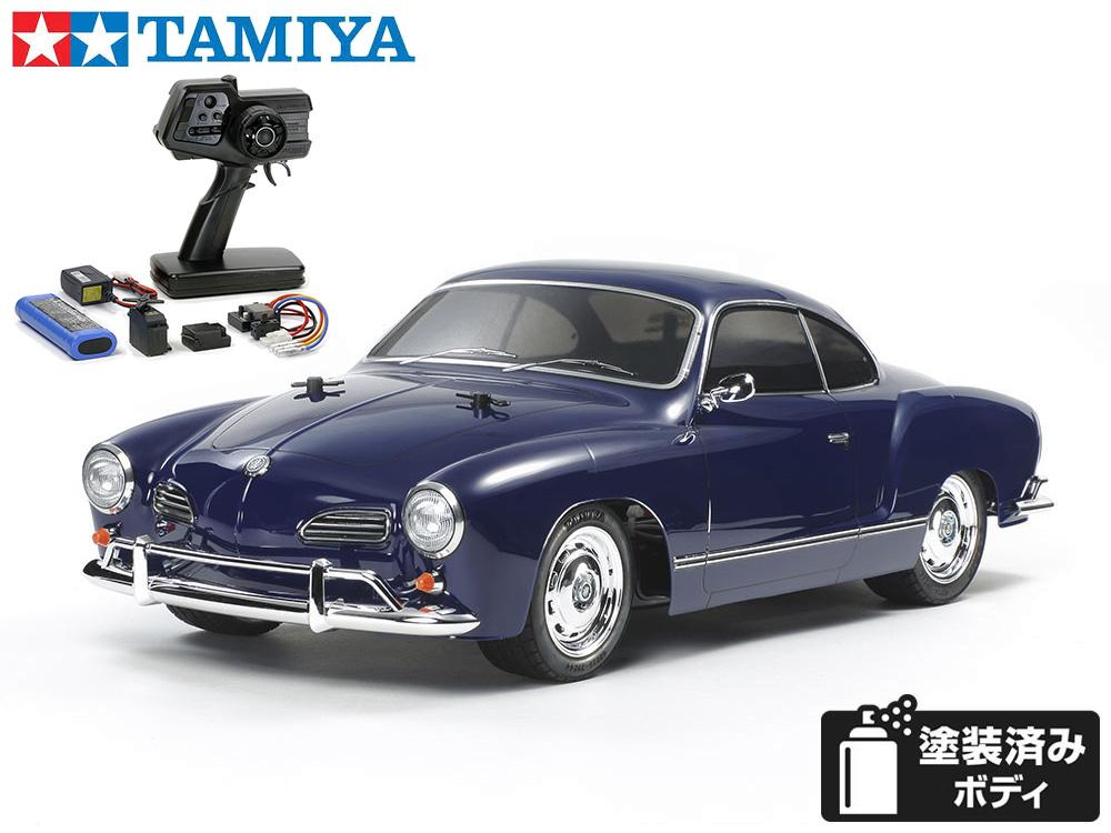 !【TAMIYA/タミヤ】 58677 1/10 電動RC フォルクスワーゲン カルマンギア (M-06シャーシ)組立キット+45053 ファインスペック電動RCドライブセット(未組立) ≪ラジコン≫