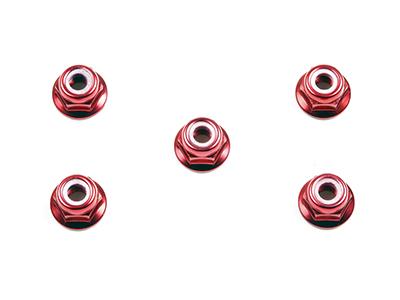 タミヤ 日本限定 RCオプションパーツ OP 53160 TAMIYA 4mm 時間指定不可 レッド アルミフランジロックナット OP160
