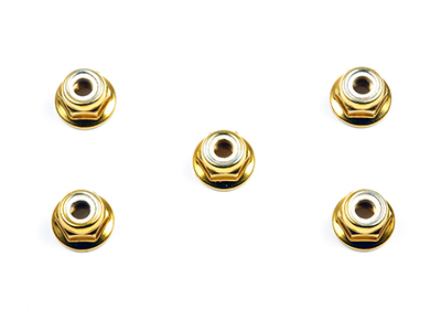 タミヤ RCオプションパーツ OP 53161 売却 TAMIYA 4mm アルミフランジロックナット オンラインショップ ゴールド OP161