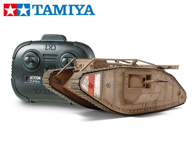 !【TAMIYA/タミヤ】 48214 1/35 電動 RCタンク WWI イギリス戦車 マークIV メール(専用プロポ付)(未組立) ≪ラジコン≫