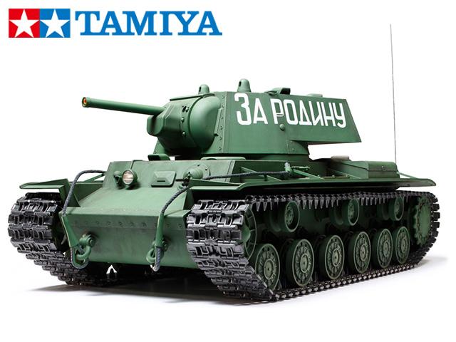 !【TAMIYA/タミヤ】 56027 1/16 電動 RCタンク ソビエト KV-1重戦車 フルオペレーションセット(未組立) ≪ラジコン≫