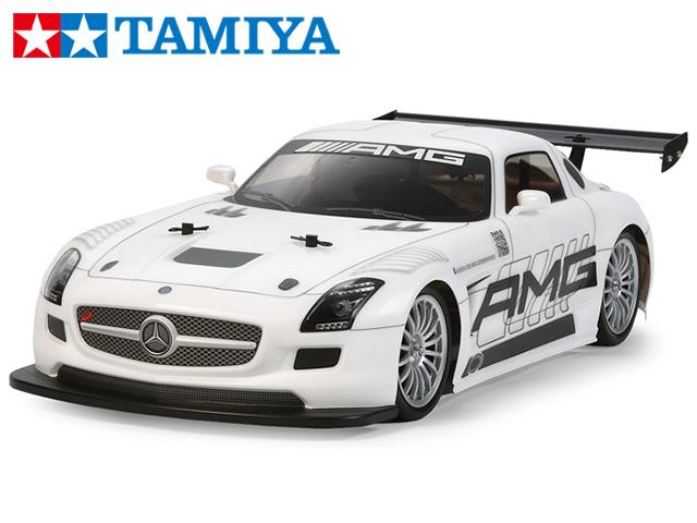 !【TAMIYA/タミヤ】 58566 1/10 電動RC メルセデス・ベンツ SLS AMG GT3(TT-02シャーシ)・サンワ:MX-6 コンピュータプロポ付フルセット+チャンプオリジナル:フルボールベアリングセット(未組立) ≪ラジコン≫