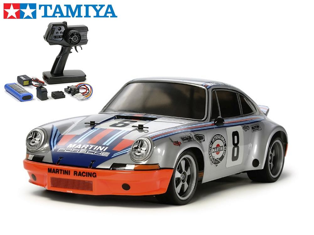 !【TAMIYA/タミヤ】 58571 1/10 電動RC ポルシェ 911 カレラ RSR(TT-02シャーシ)組立キット+45053 ファインスペック電動RCドライブセット+チャンプオリジナル:フルボールベアリング(未組立) ≪ラジコン≫