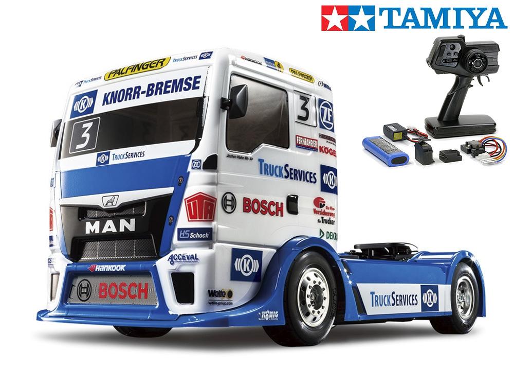 !【TAMIYA/タミヤ】 58632 1/10 電動RC TEAM HAHN RACING MAN TGS (TT-01シャーシ TYPE-E) 組立キット+45053 ファインスペック電動RCドライブセット+チャンプオリジナル:フルボールベアリング(未組立) ≪ラジコン≫