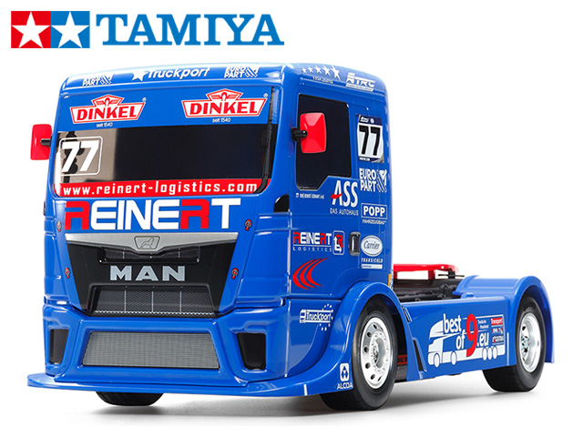 !【TAMIYA/タミヤ】 58642 1/10 電動RC TEAM REINERT RACING MAN TGS(TT-01シャーシ TYPE-E) 組立キット+チャンプオリジナル:フルボールベアリング (未組立) ≪ラジコン≫