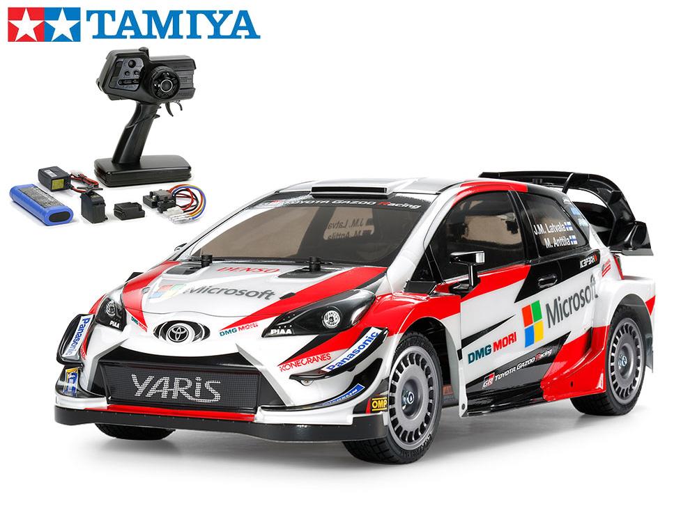 !【TAMIYA/タミヤ】 58659 1/10 電動RC トヨタ ガズー レーシング WRT/ヤリス WRC(TT-02シャーシ) 組立キット+45053 ファインスペック電動RCドライブセット+チャンプオリジナル:フルボールベアリング(未組立) ≪ラジコン≫