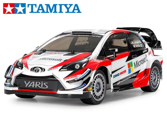 !【TAMIYA/タミヤ】 58659 1/10 電動RC トヨタ ガズー レーシング WRT/ヤリス WRC(TT-02シャーシ) 組立キット+チャンプオリジナル:フルボールベアリング (未組立) ≪ラジコン≫