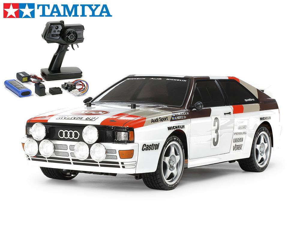 !【TAMIYA/タミヤ】 58667 1/10 電動RC アウディ クワトロ ラリーA2(TT-02シャーシ) 組立キット+45053 ファインスペック電動RCドライブセット(未組立) ≪ラジコン≫