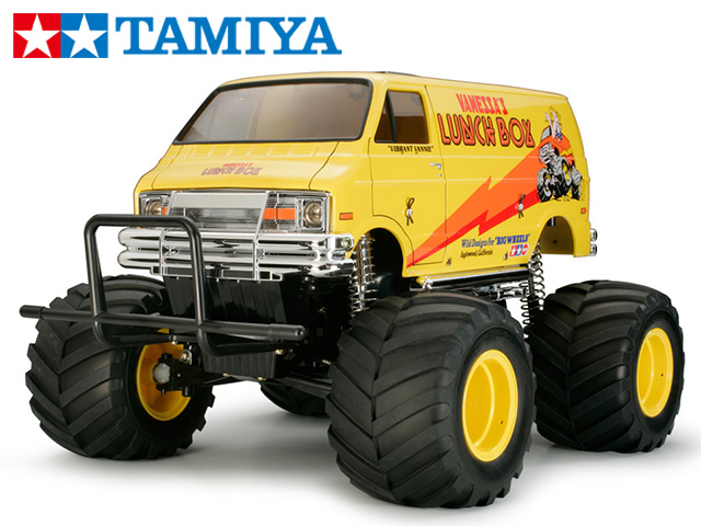!【タミヤ】 58347 ランチボックス(2005)組立キット+45053 ファインスペック電動RCドライブセット+チャンプオリジナル:フルボールベアリング