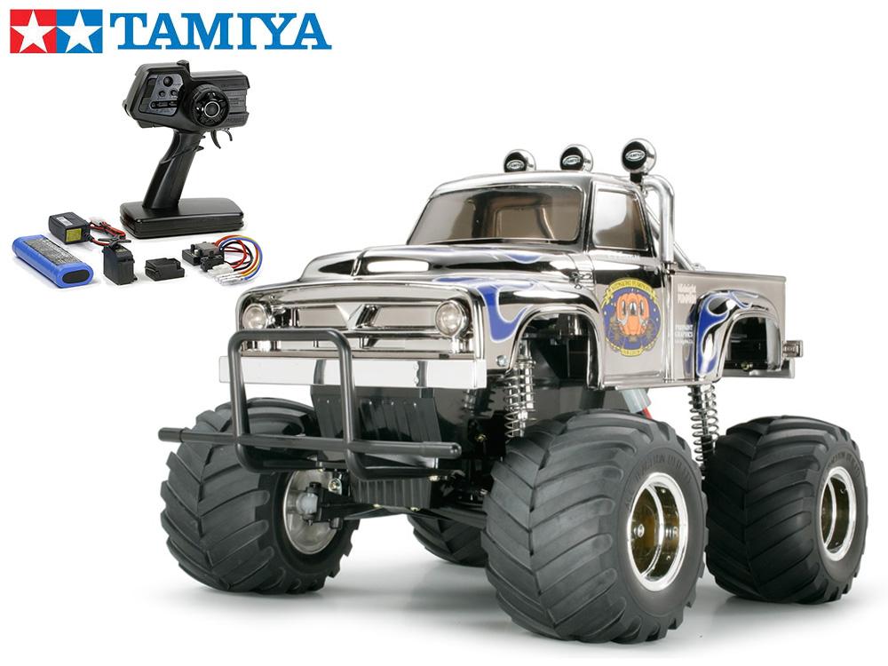 !【TAMIYA/タミヤ】 58365 ミッドナイトパンプキン メタリックスペシャル 組立キット+45053 ファインスペック電動RCドライブセット+チャンプオリジナル:フルボールベアリング (未組立) ≪ラジコン≫