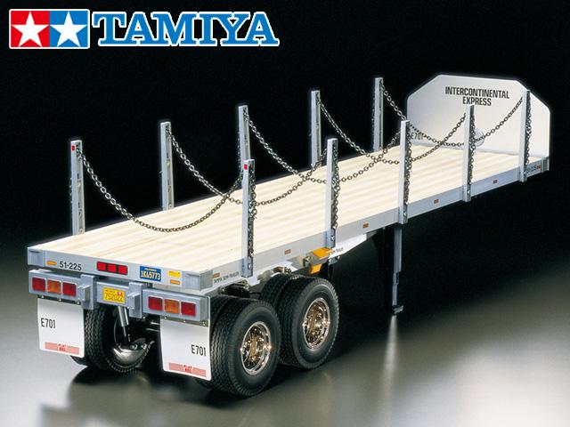 !【TAMIYA/タミヤ】 56306 1/14 RC トレーラートラック用 フラットベッド・セミトレーラー 組立キット(未組立)