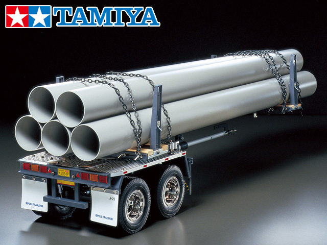 !【TAMIYA/タミヤ】 56310 1/14 RC トレーラートラック用 ポールトレーラー 組立キット+チャンプオリジナル:フルボールベアリング(未組立)