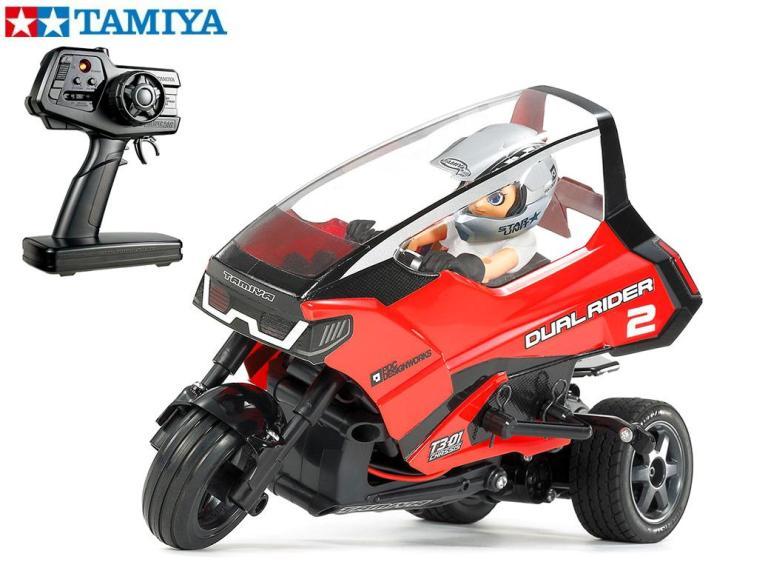 !【TAMIYA/タミヤ】 57408 1/8 電動RC トリプルホイールシリーズ デュアルライダー (T3-01シャーシ) 完成モデル ≪ラジコン≫