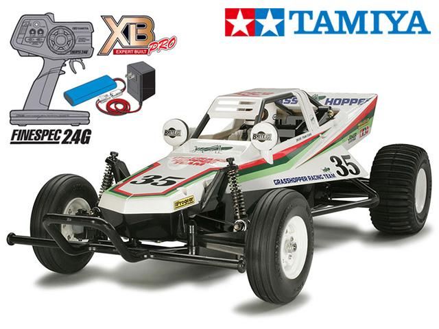 !【TAMIYA/タミヤ】 57746 1/10 電動RC 完成セット XB グラスホッパー チャンプオリジナル XBビギナーセット(タミヤ純正予備バッテリー1本・急速充電器・単三乾電池4本付) ≪ラジコン≫