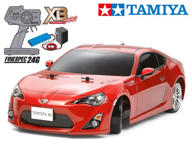 !【TAMIYA/タミヤ】 57851 1/10 電動RC 完成セット XB トヨタ86 (TT-01Dシャーシ TYPE-E)ドリフトスペック チャンプオリジナル XBビギナーセット(タミヤ純正予備バッテリー1本・急速充電器・単三乾電池4本付) ≪ラジコン≫