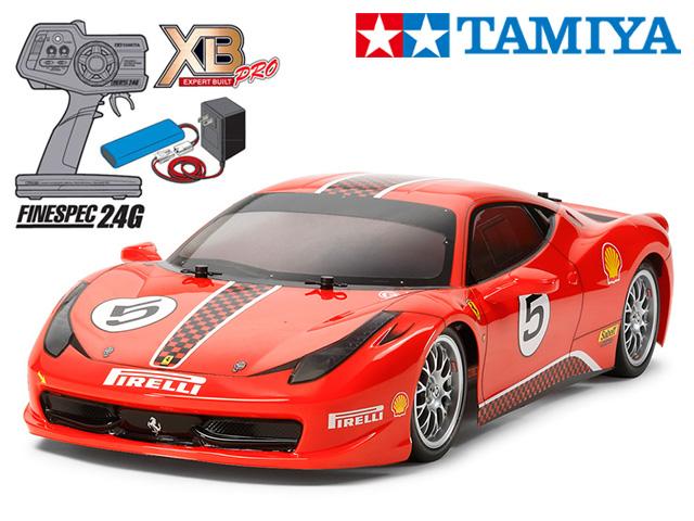 !【TAMIYA/タミヤ】 57855 1/10 電動RC 完成セット XB フェラーリ 458 チャレンジ (TT-02シャーシ) ≪ラジコン≫