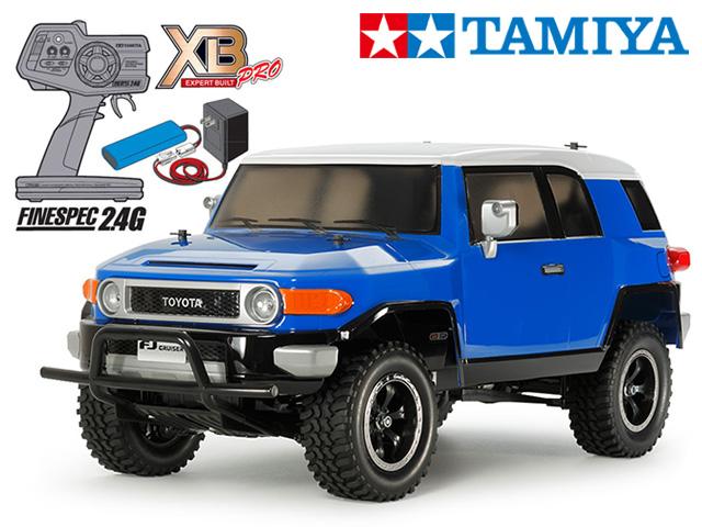 !【タミヤ】 57877 XB トヨタ FJクルーザー(CC-01シャーシ) チャンプオリジナル XBビギナーセット(タミヤ純正予備バッテリー1本・急速充電器・単三乾電池4本付)