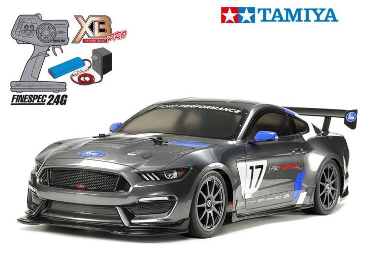 !【TAMIYA/タミヤ】 57918 1/10 電動RC 完成セット XB フォード マスタング GT4 (TT-02シャーシ)≪ラジコン≫