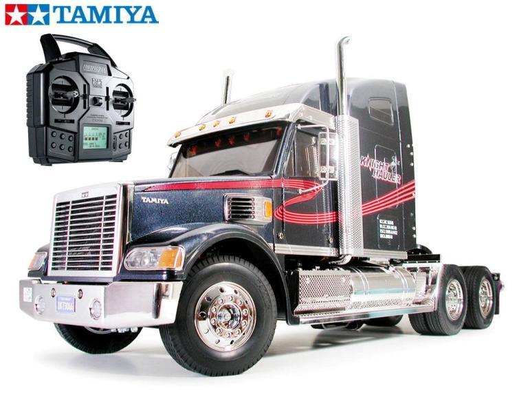 !【TAMIYA/タミヤ】 56313 1/14 電動RC ビッグトラック ナイトハウラー フルオペレーションセット+チャンプオリジナル:フルボールベアリング(未組立) ≪ラジコン≫