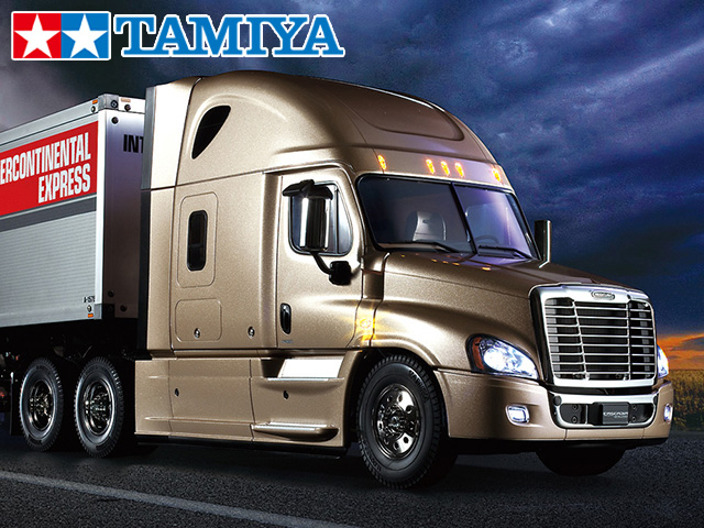 !【TAMIYA/タミヤ】 56339 1/14 電動RC ビッグトラック フレイトライナー カスケイディア エボリューション フルオペレーションセット(未組立) ≪ラジコン≫