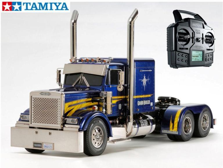 !【TAMIYA/タミヤ】 56343 1/14 電動RC ビッグトラック グランドハウラー フルオペレーションセット(未組立) ≪ラジコン≫