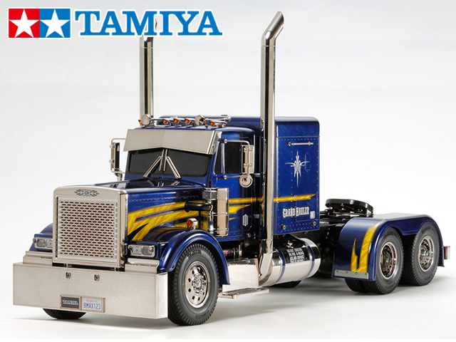 !【TAMIYA/タミヤ】 56343 1/14 電動RC ビッグトラック グランドハウラー フルオペレーションセット+チャンプオリジナル:フルボールベアリング(未組立) ≪ラジコン≫