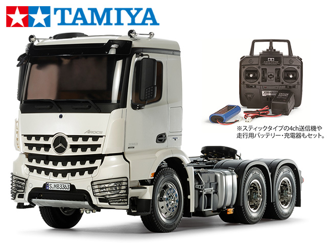 !【TAMIYA/タミヤ】 56351 1/14 電動RC ビッグトラック メルセデス・ベンツ アロクス 3363 6×4 クラシックスペース フルオペレーションセット(未組立) ≪ラジコン≫