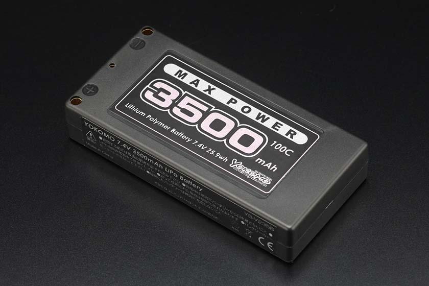 予約販売品 YB-V235BA YOKOMO ヨコモ Li-po 3500mAh 7.4V 捧呈 ショートサイズバッテリー